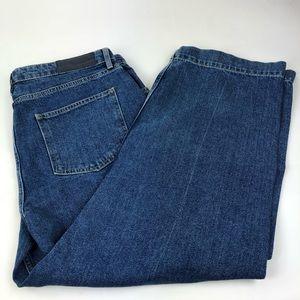 Top Shop Boutique Jeans Boyfriend Crop Blue 10